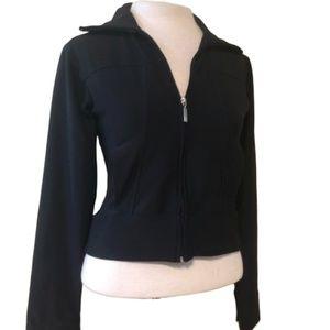 NIKE Black Athletic Jacket Size Small ( 4-6 )